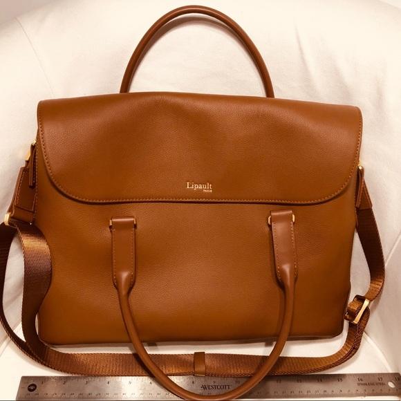 3c1c9975f631 Lipault Handbags - Lipault Paris Plume Elegance Leather Laptop Bag